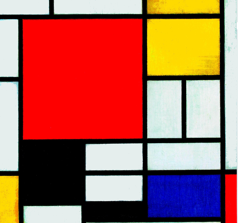 Bimbi E Arte Quadro Da Colorare In Stile Piet Mondrian Crearegiocando