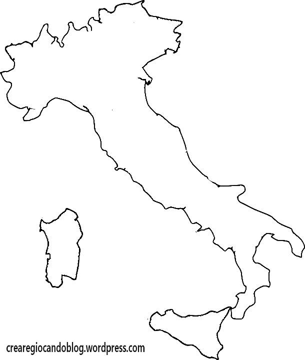 Cartina Italia Regioni Da Stampare.L Italia In Un Puzzle Per Imparare Regioni E Posizioni Per Quaderno Crearegiocando