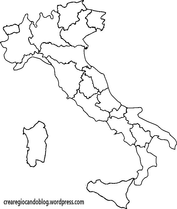 Cartina Dell Italia Da Colorare E Stampare.Italia Da Colorare E Stampare