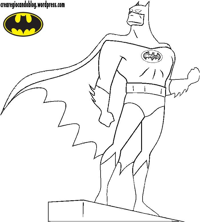 Batman Da Colorare Crearegiocando