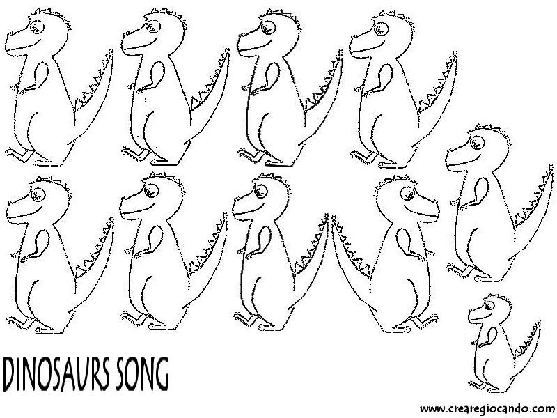 La Canzoncina Dinosauro Con Lavoretto In Inglese Crearegiocando